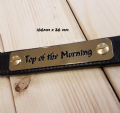 Polished Brass Head collar nameplate 20mm depth